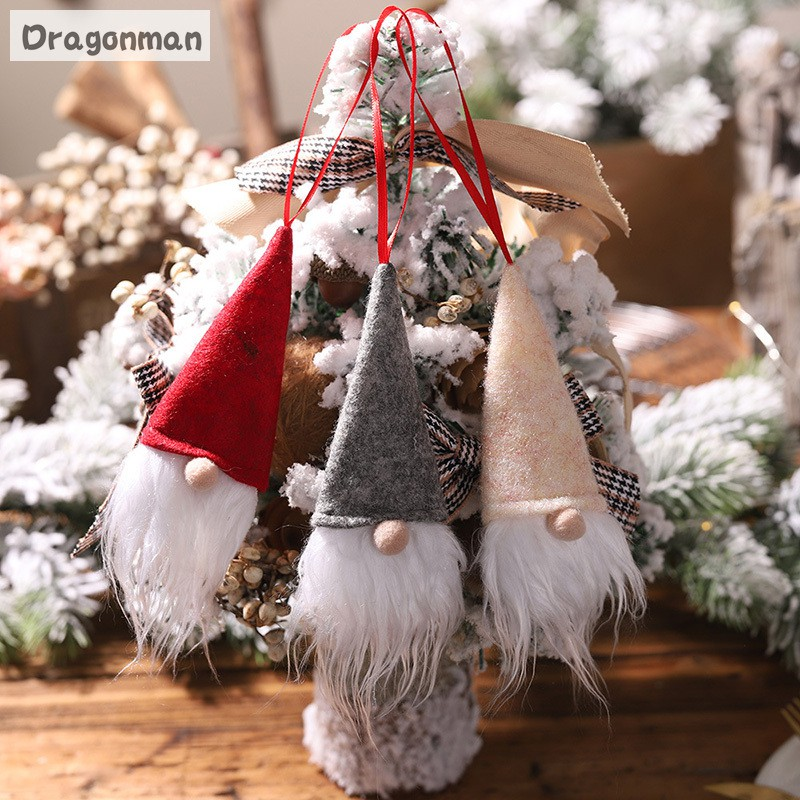 Wine Bottle Cover Small Pendant Faceless Doll Santa Claus Christmas Home Decorations Holiday Decor Shopee Indonesia