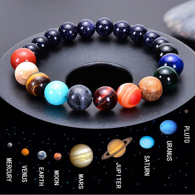 Eight Planets Bead Bracelet Women