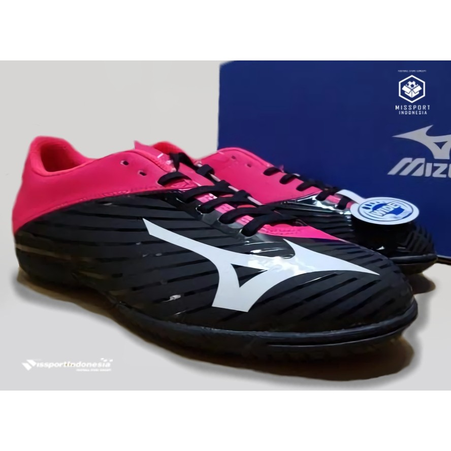 Sepatu Futsal MIZUNO Basara 103 In Wide Red Black 100% original Merah  39f23a50c7