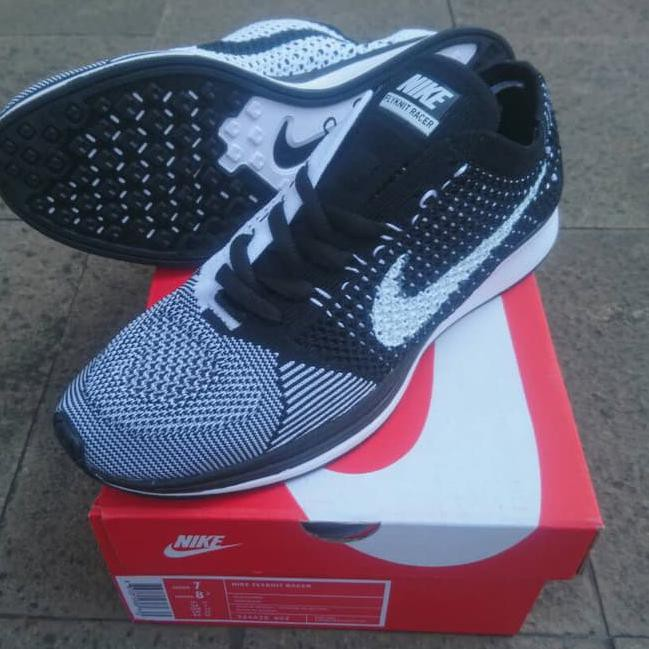 fe5894ab3405a ... coupon for stock baru sepatu nike flyknit racer black white premium  quality shopee indonesia 71a0d da5f9