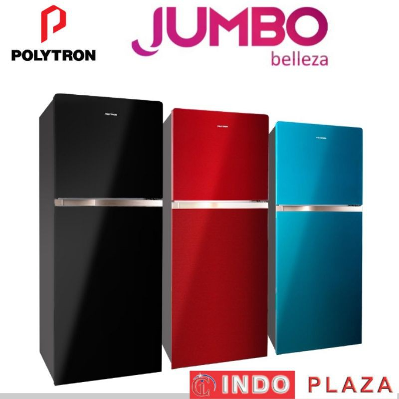 KULKAS 2 PINTU POLYTRON BELLEZA JUMBO PRW-23MNX / 29MNX