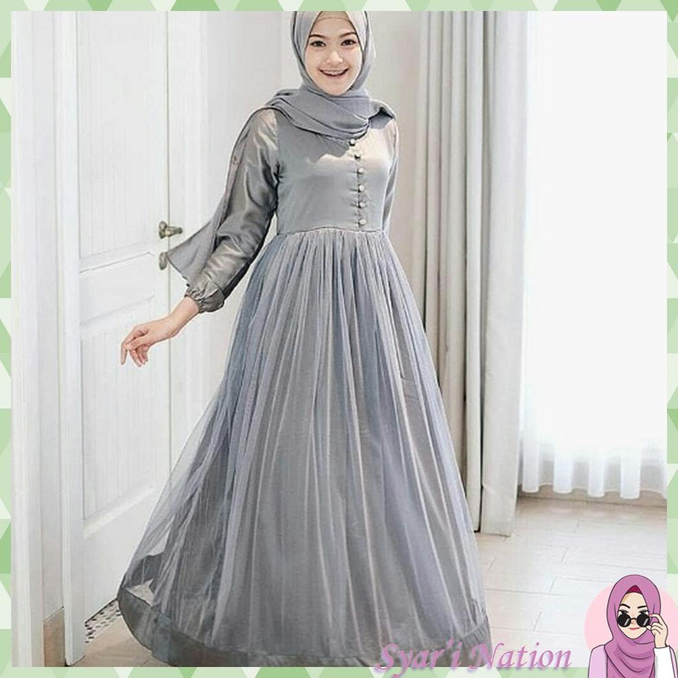 Queen Maxi  Baju Gamis Wanita Baju Muslim Wanita  Baju Gamis Syari -Ll
