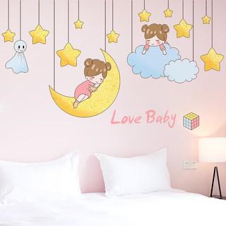 lucu liontin kartun stiker dinding dekorasi kamar tidur