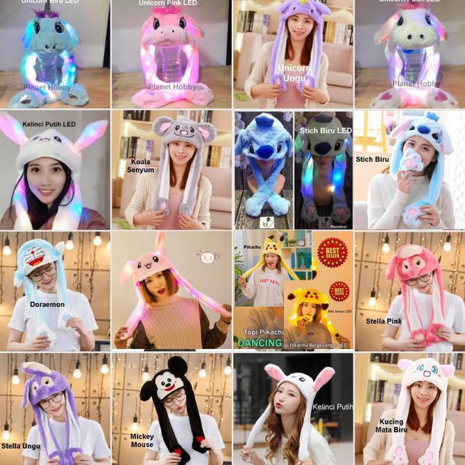 Topi Kelinci Lucu Rabbit Hat Magic Rabbit Bunny Ear Hat Tik Tok Kucing Matabiru Shopee Indonesia