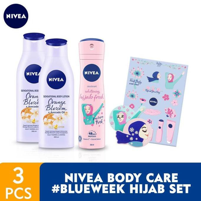 Terbaru Nivea Body Care Blueweek Hijab Set Shopee Indonesia