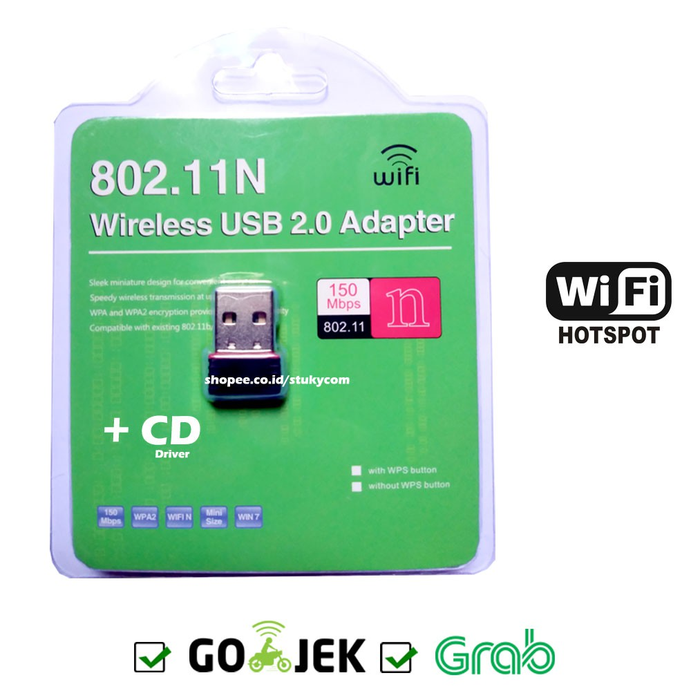 Jual New 150mbps 150m Mini Usb Wifi Wireless Adapter Network Lan Dongle Adaptor 80211n  Baru Card 802 1 Limited Shopee Indonesia