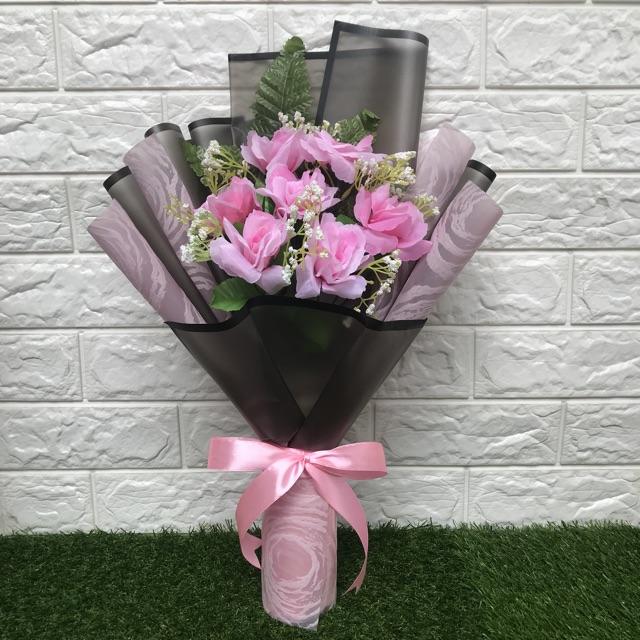 Buket Bunga Palsu Buket Tunangan Buket Wisuda Artificial Flower Bouquet Shopee Indonesia