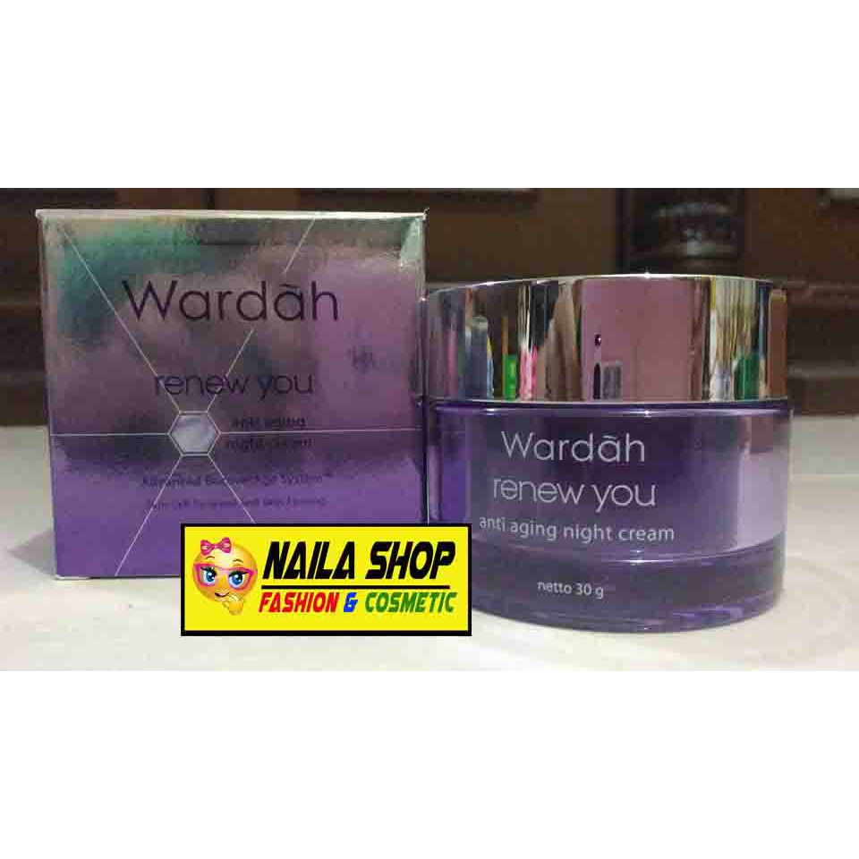 Wardah Renew You Anti Aging Night Cream 17ml Shopee Indonesia 30 G