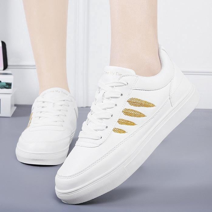 Sepatu Lari Kasual Flat Wanita Sepatu Putih Berkualitas Tinggi