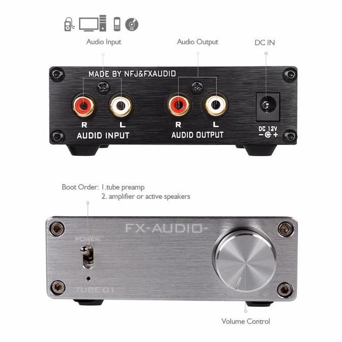 [Bayar Di Tempat]AC 12V 6J1 Valve Tube Preamp Amplifier Preamplifier Board DIY Kits + Case _Eb | Shopee Indonesia