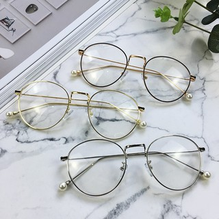 Gelas kacamata cermin datar Fashion Metal Frame Glasses Classic Eyeglasses  Clear Lens Sunglasses d29158f292