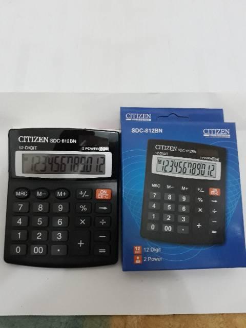 Citizen SDC 812BN Kalkulator penghitung 12 digit 2 power  baadcb8c14