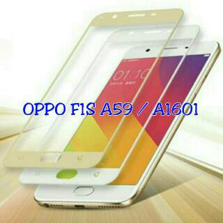 TEMPERED GLASS SCREEN GUARD WARNA OPPO F1S A59 PRESISI SELFIE EXPERT. suka .