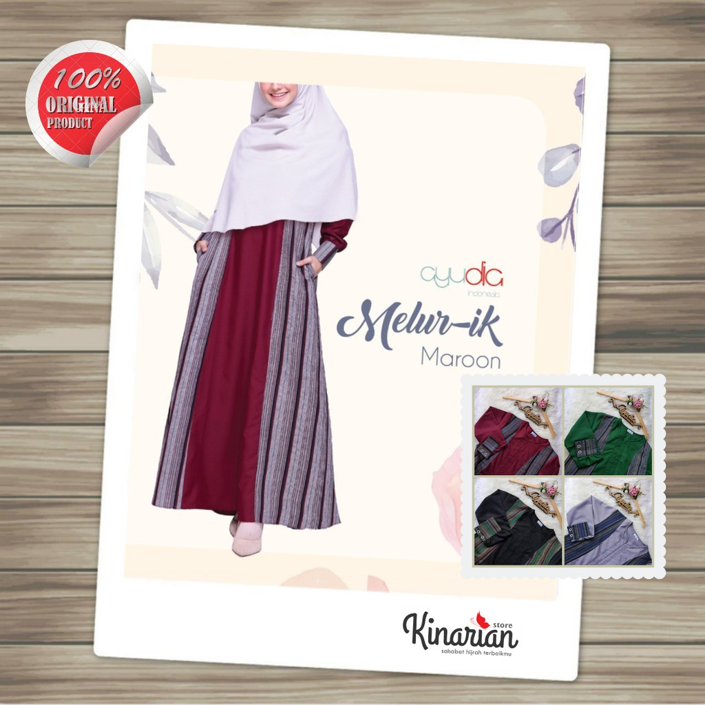 Gamis Batik Modern MELUR-ik dress by Ayudia - LURIK eksklusif syari cantik  elegan