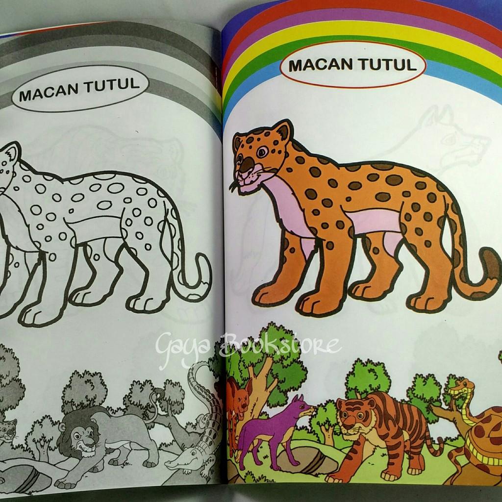 Buku Mewarnai Binatang Buas PAUD & TK Kecil