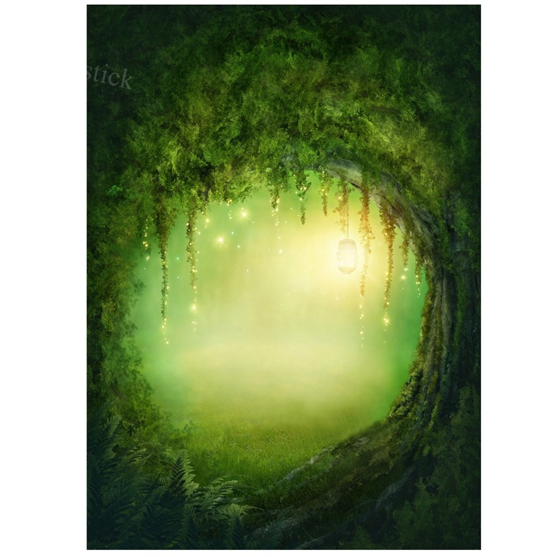 3X5FT Vinyl Studio Backdrop Photography Fairy Tale Forest Photo Background Green | Shopee Indonesia