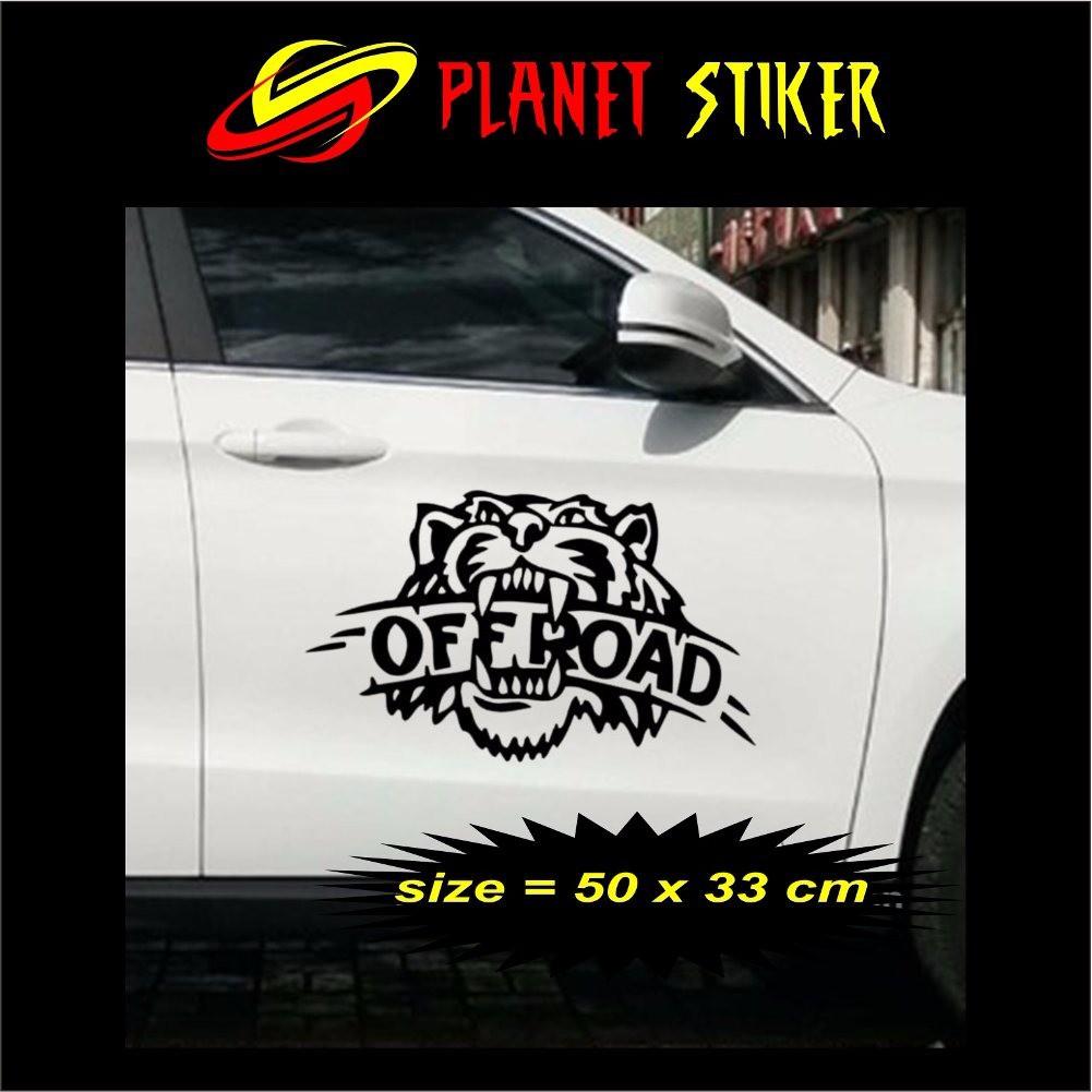 Cutting sticker dakar 2 pcs stiker mobil wrangler pajero katana jimny all jeep dan universal all m shopee indonesia