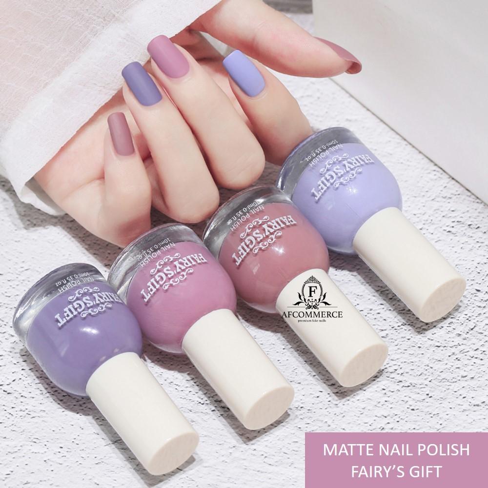 Matte Non Peel Off Nail Polish Fairy S Gift Halal Kutek Tidak Beracun Tanpa Box Shopee Indonesia