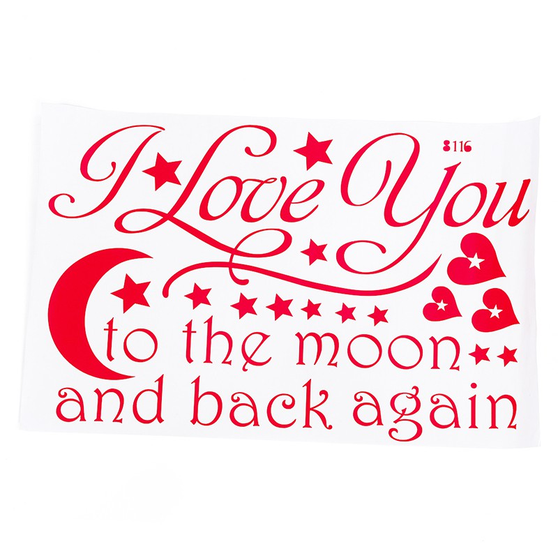 I Love You To The Moon And Back Sayings Quotes Easy Apply Sticker Wall Art For C Shopee Indonesia