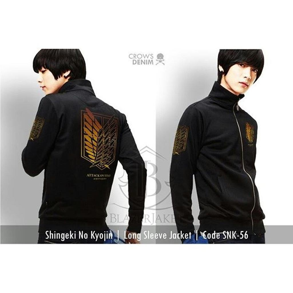 Jaket Denim Jeans Jaker Special Edition Pria Anime Shingeki No Kyojin Green Hoodie Kode Z 04 Shopee Indonesia