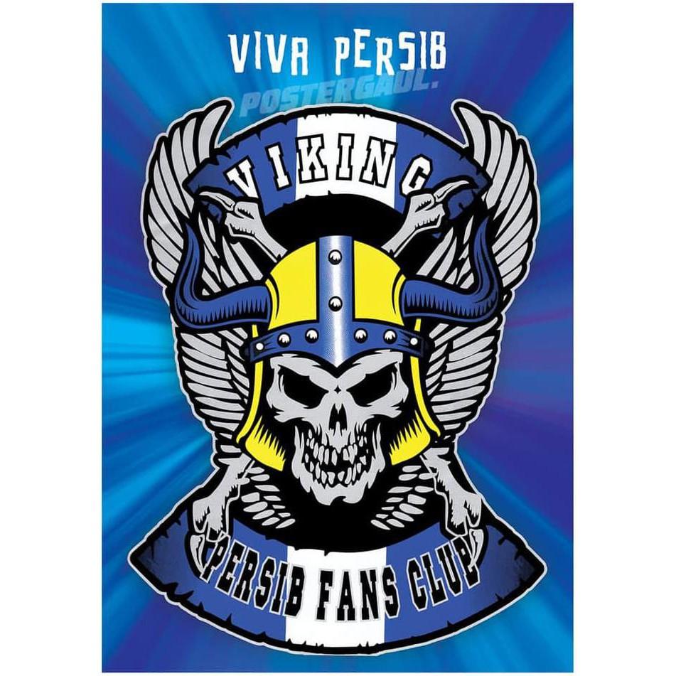 Poster Dinding Wallpaper Jumbo LOGO PERSIB VIKING FCL33 50 X 70 Cm