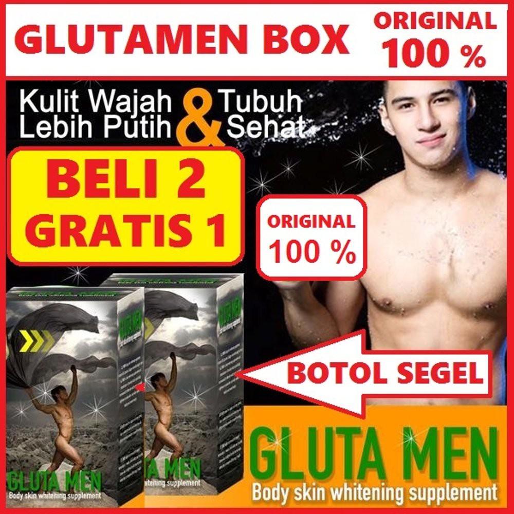 Glutamen Whitening Dus Hologram Original Suplemen Pemutih Kulit Berrygloss  2 Gratis 1 Tubuh Wajah Panacea Gluta Men Drink Shopee Indonesia