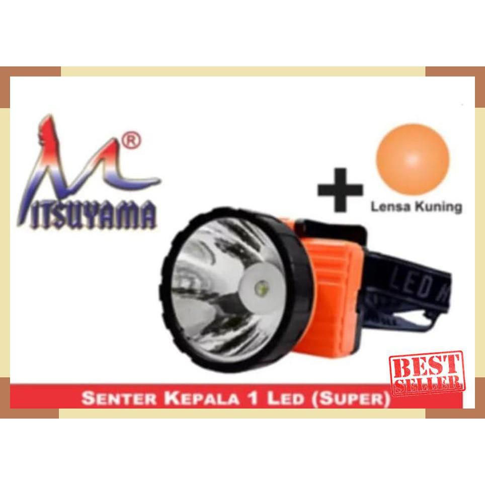 Senter Kepala Cas Mitsuyama Ms 2011a Shopee Indonesia Headlamp Model Mata Kucing