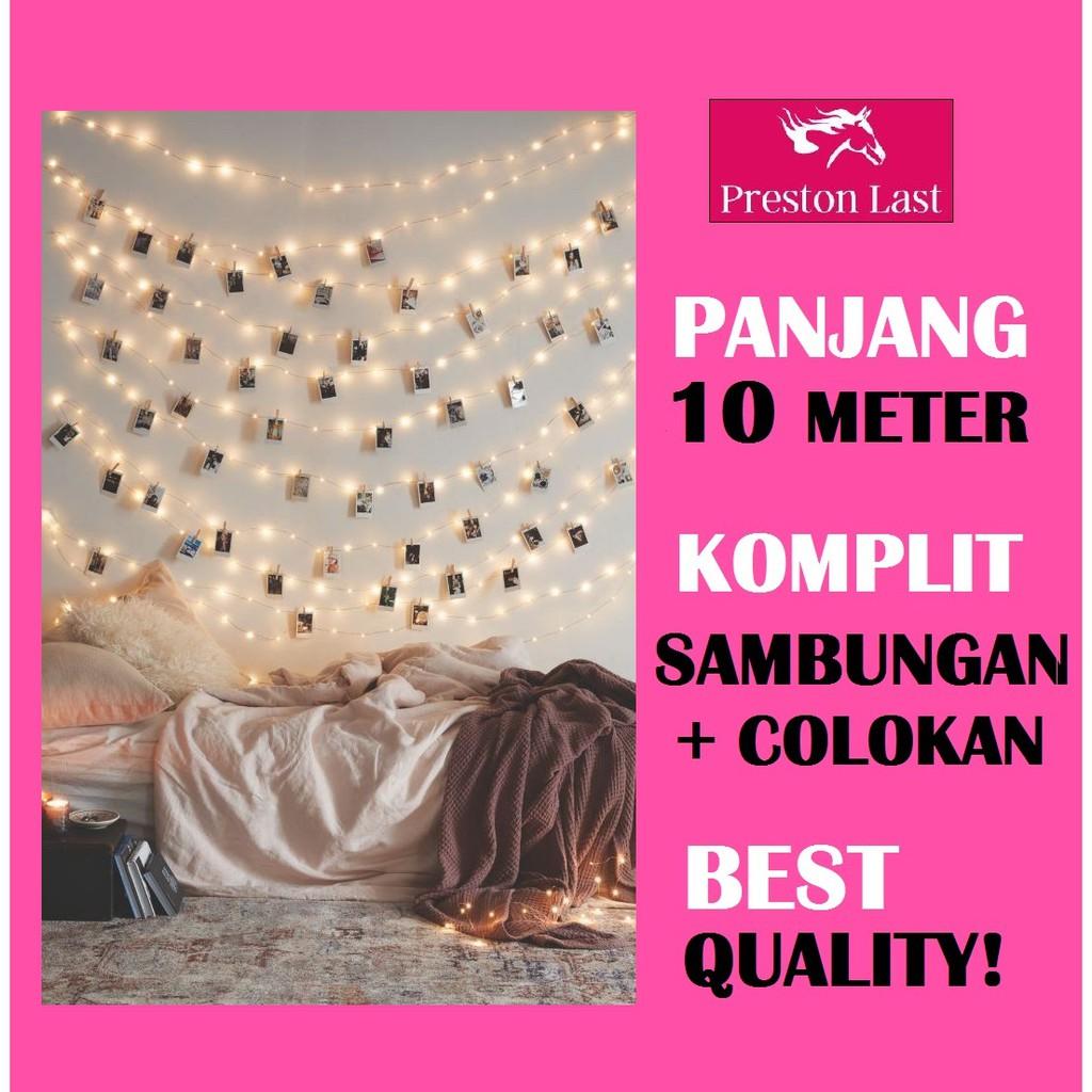 Lampu Hias 100 Led 10 Meter 10m Tumblr Kamar Tidur Gantung Natal Bublewarp Tambahan Tirai Light Dekorasi Hln Shopee Indonesia