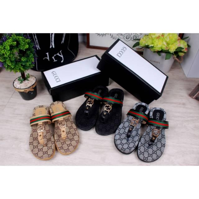 9811713128d7e 50645 Gucci Monica GG Slippers sandal import wanita cewek perempuan ...