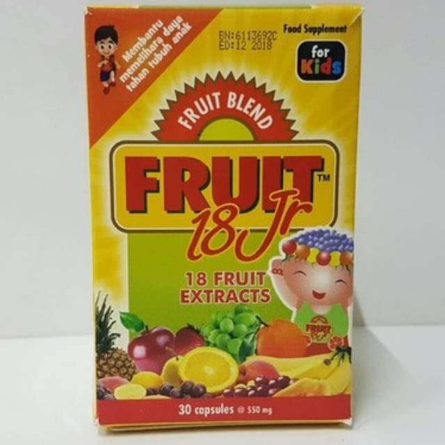 Vegeblend 21 Jr Isi 30 / FRUIT 18 JUNIOR KIDS 30 KAPSUL | Shopee Indonesia