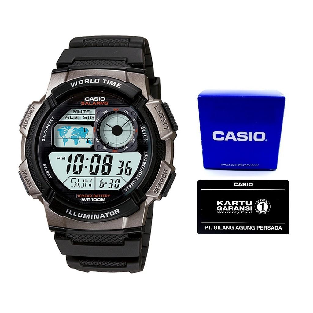 Casio Analog Digital Fishing Gear Watch Aw 82h Biru Jam Tangan Pria Hitam Strap Karet Aeq 110bw 9a Shopee Indonesia