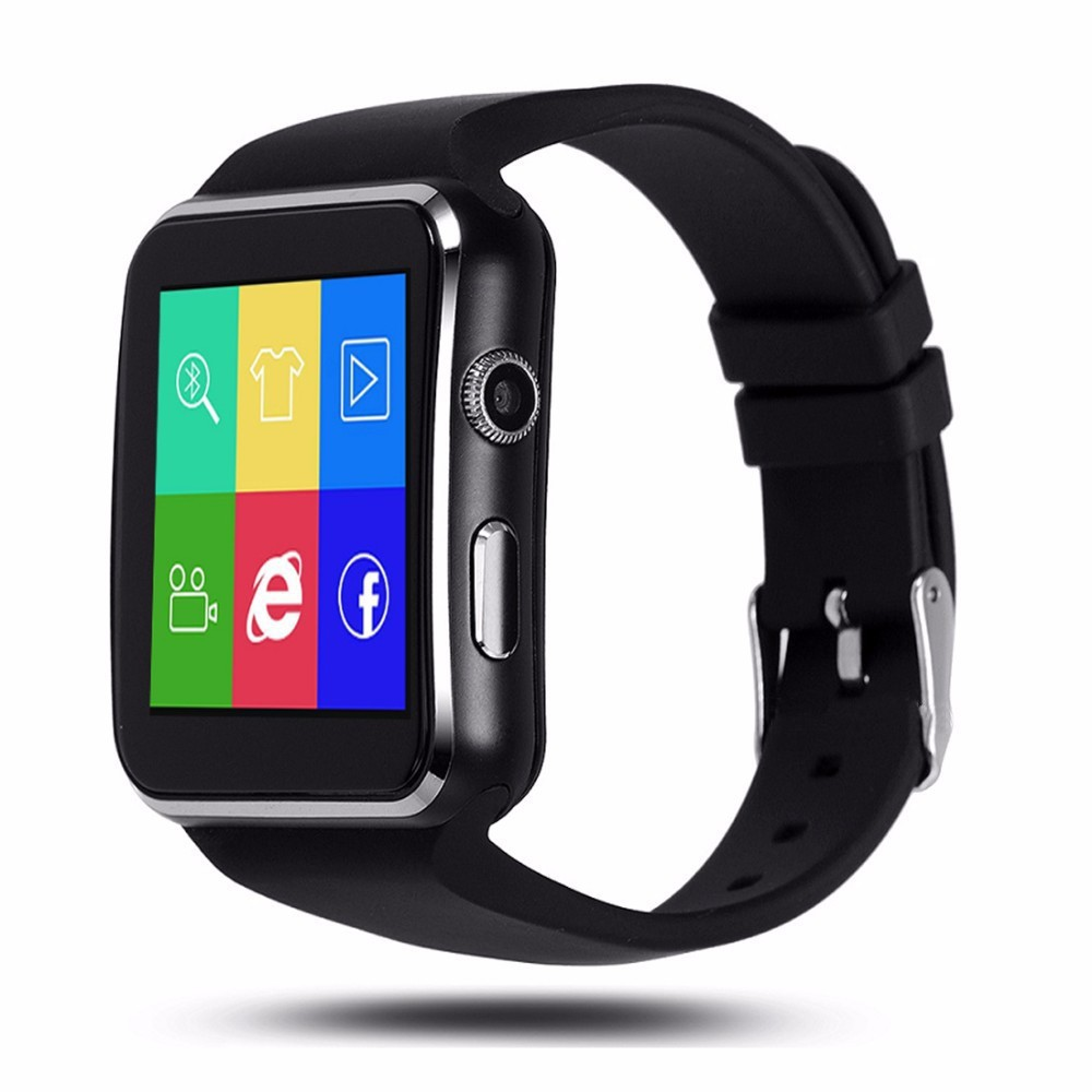 Smartwatch Bluetooth X6 dengan Kamera 1.3MP dan Strap Karet untuk iOS / Android | Shopee Indonesia