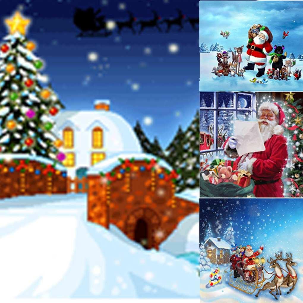 DIY Lukisan Diamond 5D Dengan Gambar Santa Claus Bernuansa Natal Untuk Hiasan Dekorasi Rumah