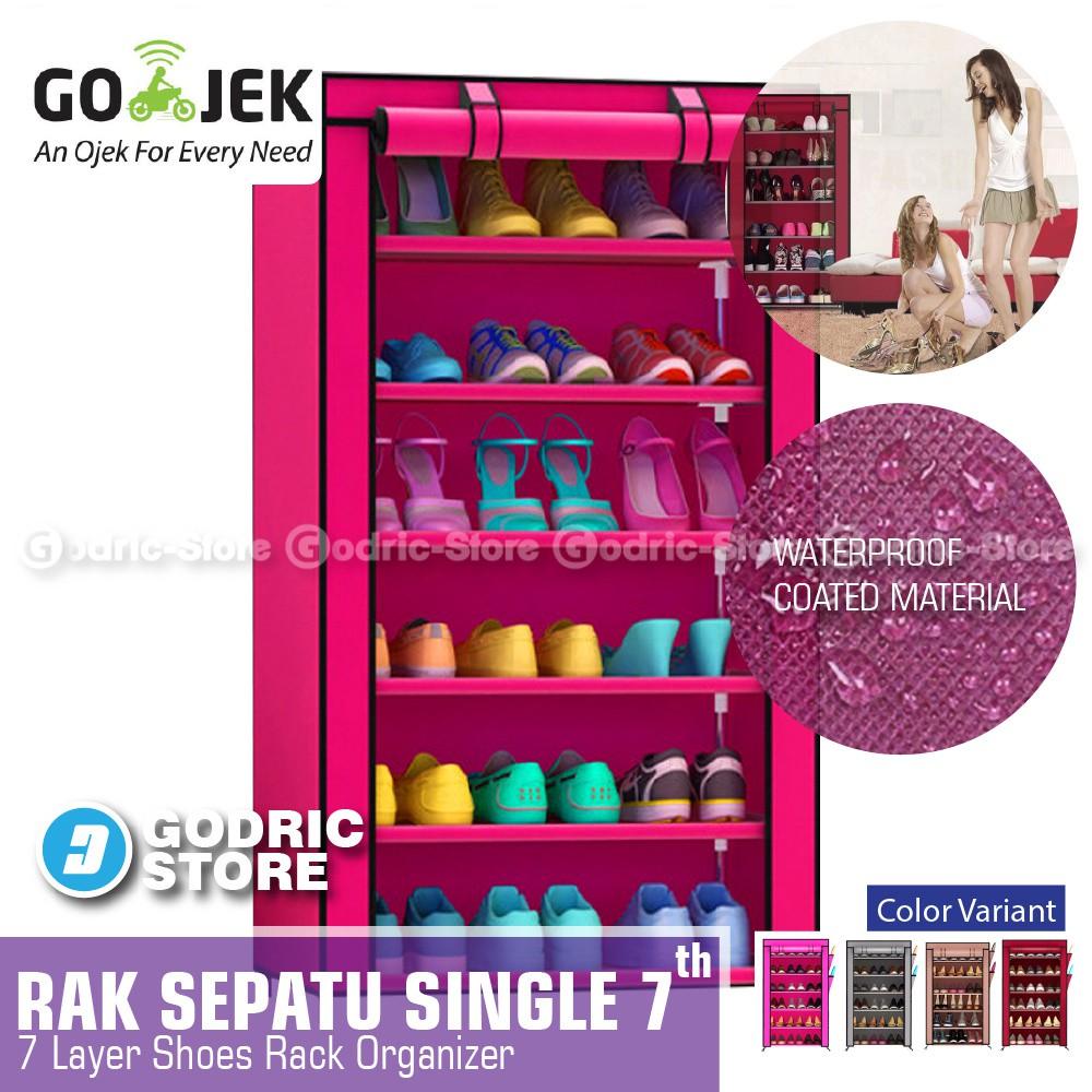 Godric Rak Buku Portable Triple 3 Sisi Serbaguna 12 Layer 9 Ruang Lemari 2 85 X 30 125 Cm Susun 123 31 Shopee Indonesia