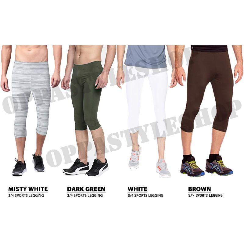 Oppa Style Shop Basic 7 8 Legging Pria Celana Legging 7 8 Training Sport Premium Shopee Indonesia