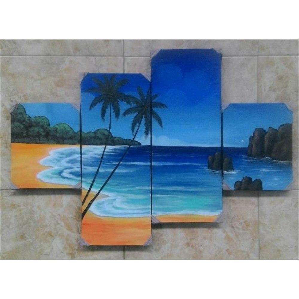Lukisan Panel Pemandangan Pantai Bali Koleksi