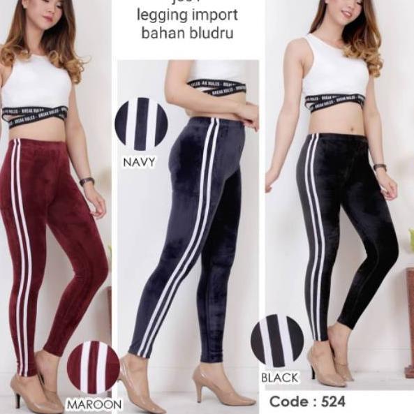 Jangan Ketinggalan Order Jc01 Legging Import Bahan Bludru Combinasi List 2 Shopee Indonesia
