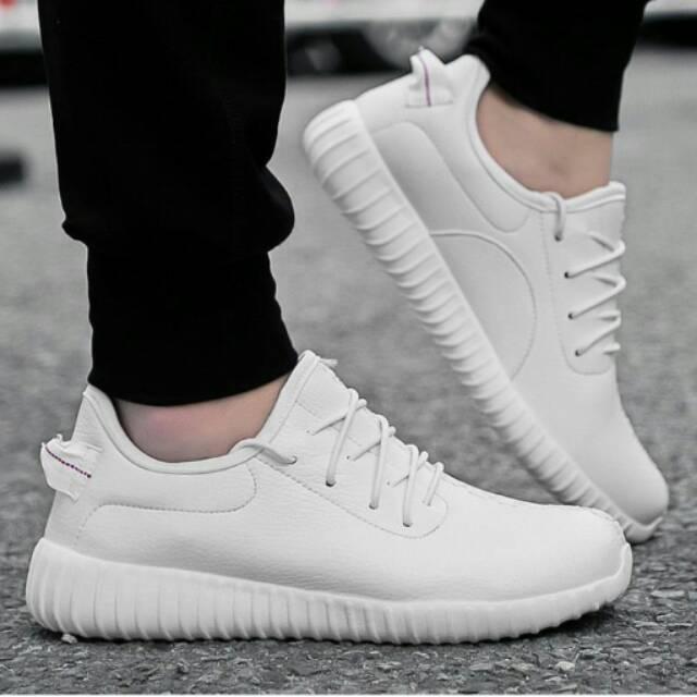 Sepatu Sneakers Adidas Alphabounce Tubular Warna Putih Polos ... d303609403