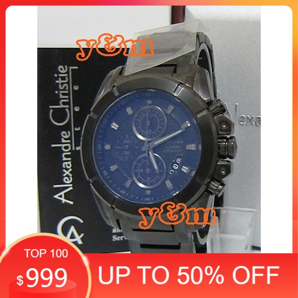 Jam Tangan Pria Alexandre Christie Original AC 6226 MC FBL full black