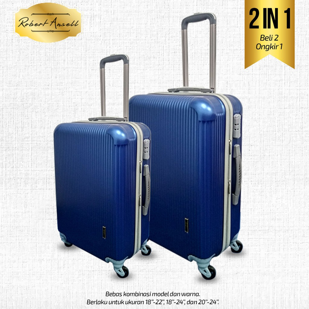 Koper Kabin Fiber Hard Case I8 Inc Polo Hoby 705 Shopee Indonesia Tas Abs Size 20 Inch Silver