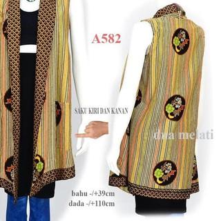 TERMURAH Tunik batik baju batik fashion muslim atasan batik wanita gamis  A588 .. f504dc49ec