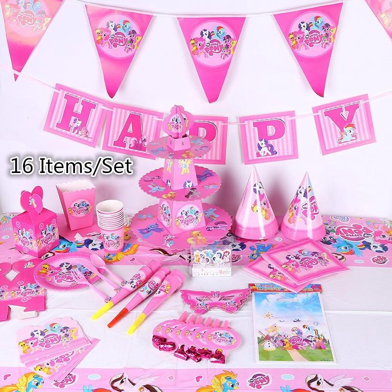 Set 16Pcs Dekorasi Desain My Little Pony theme untuk Pesta ...