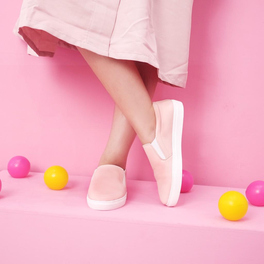 Amazara Vienna Pink Slip On Shopee Indonesia Cara Hazelnut Flatshoes Beige 41