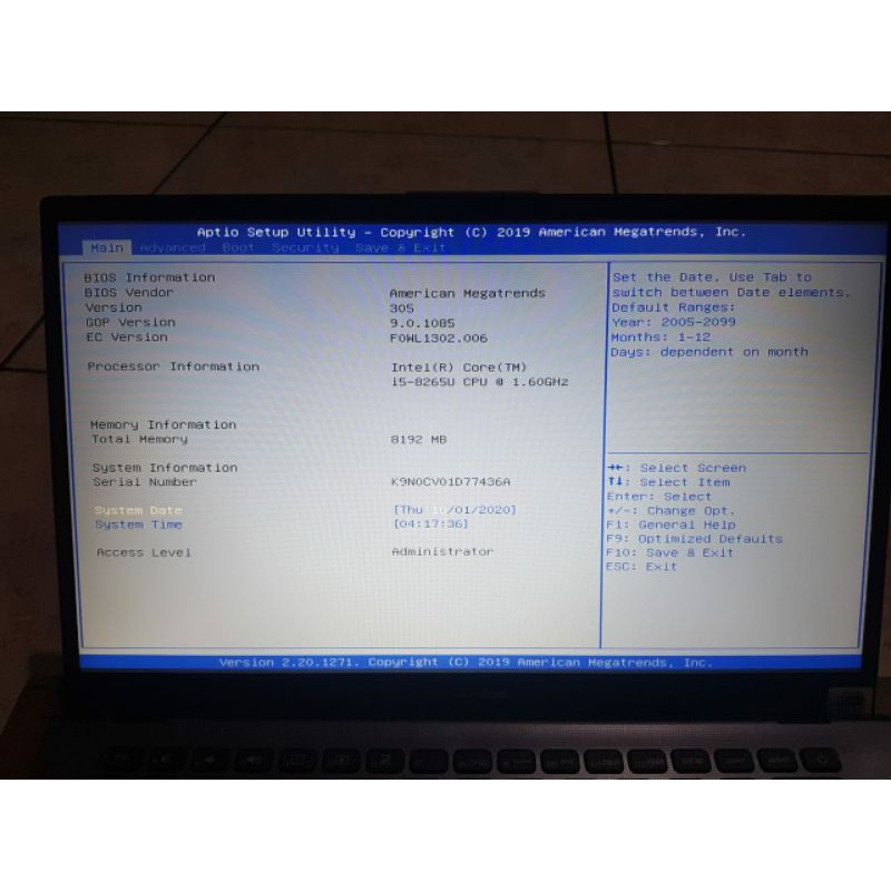 Laptop Asus Core i5 8GB RAM SSD 256GB VGA Nvidia