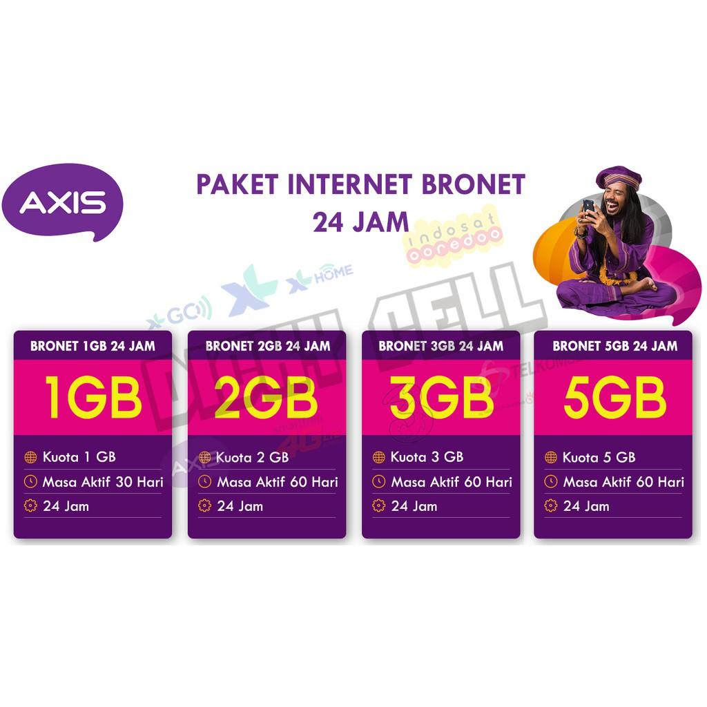 Update Paling Murah Paket Data Axis Bronet Full 24 Jam Shopee 2gb Indonesia