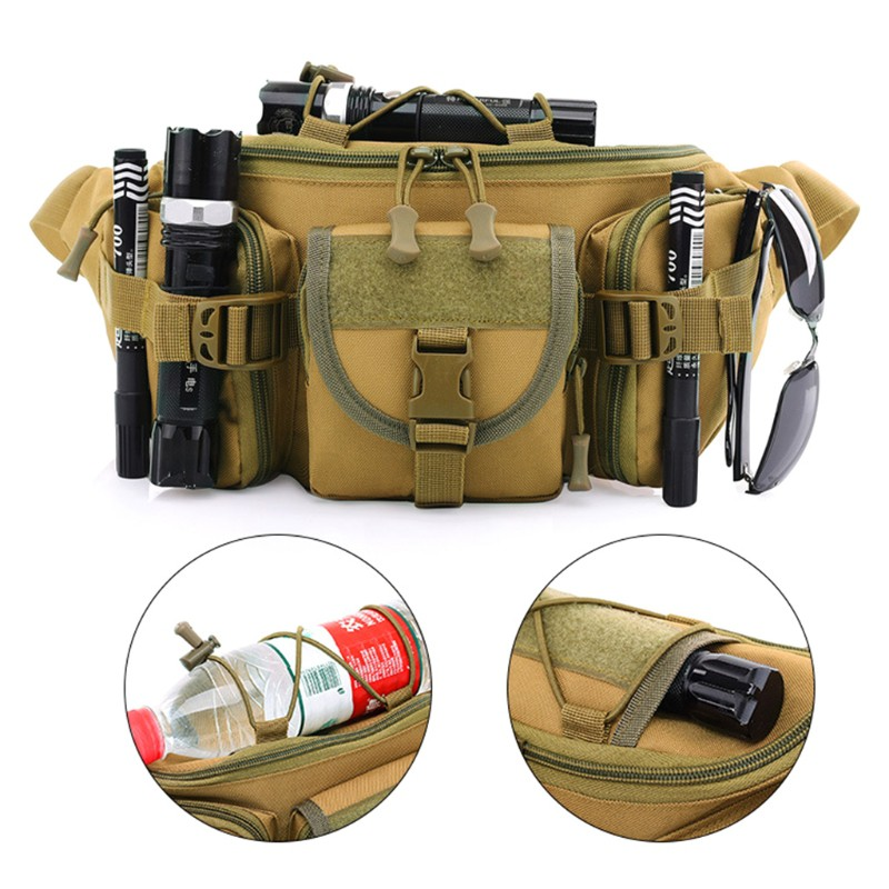 Utility Outdoor Tactical Waist Pack Pouch Military Camping Hiking Bag Belt Molle