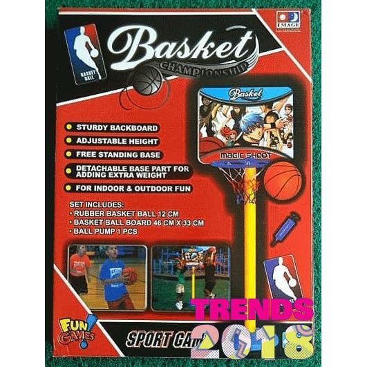 FOOTBALL AND BASKETBALL MERGE SET MAINAN GAWANG SEPAKBOLA 2 IN 1 RING BASKET | Shopee Indonesia