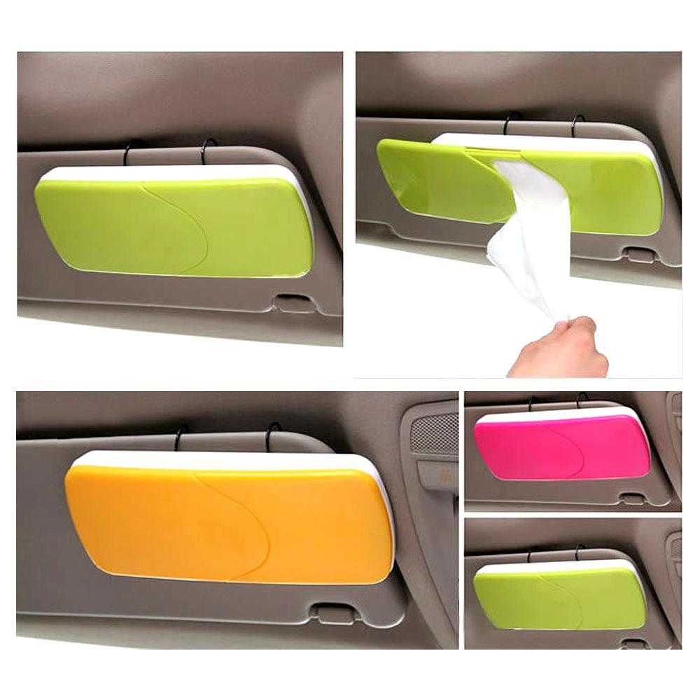 Kotak Tissu Mobil Tempat Tisu Interior Motor Jepit Atas Car Coin Holder Koin Di Tissue Box Sun Visor Shopee Indonesia