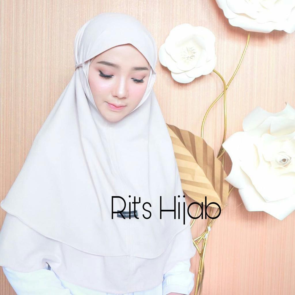 Hijab Double Layer Bergo Maryam Bergo Maryam 2 Layer Hijab Instant Hijab Jilbab Khimar Instan Shopee Indonesia
