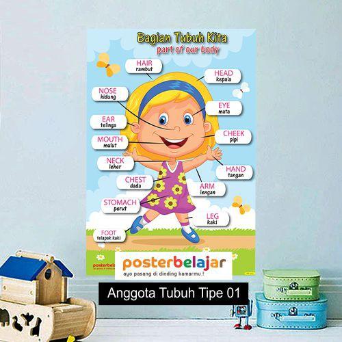 Tipe 1 Paket Isi 10 Posbel Poster Pendidikan Belajar Bahasa Inggris Untuk Anak Shopee Indonesia